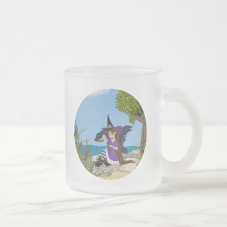 Faery de la bruja del cuervo tazas de café