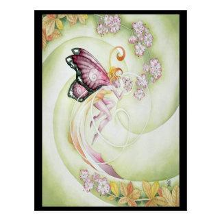 Faery de la flor de cerezo tarjeta postal