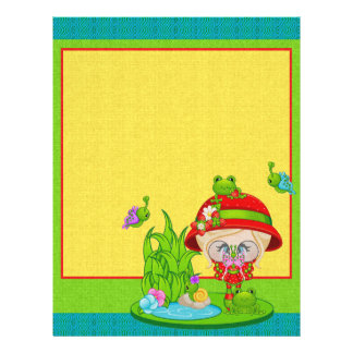Faery de la rana del amante de naturaleza folleto 21,6 x 28 cm