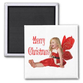 Faery del navidad imán cuadrado