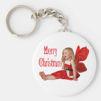 Faery del navidad llavero redondo tipo pin