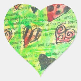 Faery Hearts Stickers