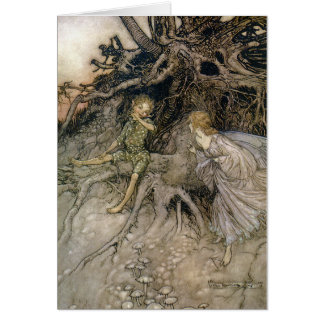 Faery image, Midsummer Night's Dream, customizable Card