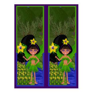 Faery in Field of Flowers Bookmarks Postcard