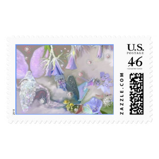Faery in her magical world stamp