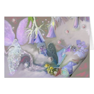 Faery in her small world Card