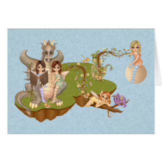 Faery Land Friends Pixel Art Card