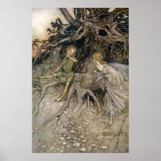 Faery, Midsummer Night's Dream, Rackham 16W x 24H Poster