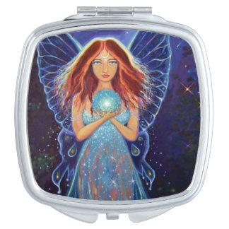 Faery místico del arco iris - espejo de hadas del espejo de viaje