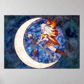 Faery Moon Poster