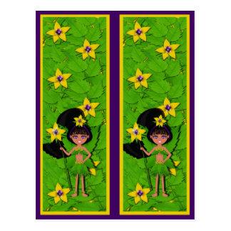 Faery named Violet  Bookmarks Postcard