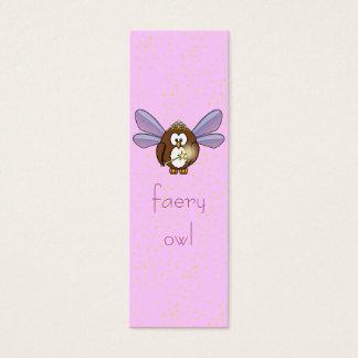 faery owl mini business card