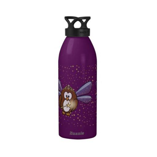 faery owl water bottles