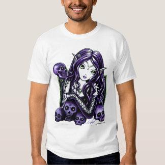 Faery púrpura del cráneo de la belladona polera