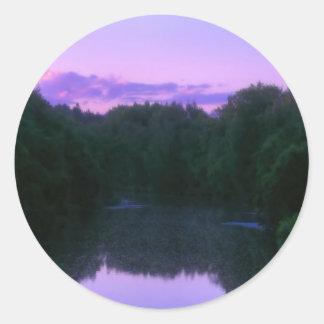 Faery river classic round sticker