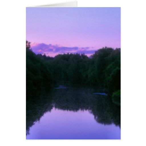 Faery river stationery note card