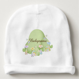 Faery Sidhe Hill & Flowers Personalized Baby Beanie