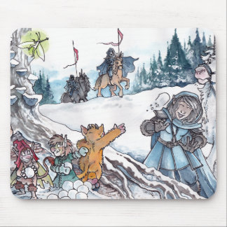 Faery Snowball Fight Mouse Pad