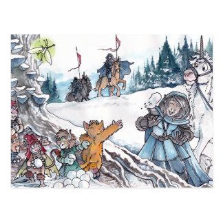 Faery Snowball Fight Postcards