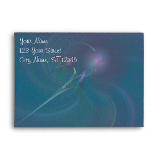 Faery Wand Abstract Art Envelope