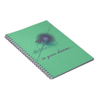 Faery Wand Abstract Art Notebook