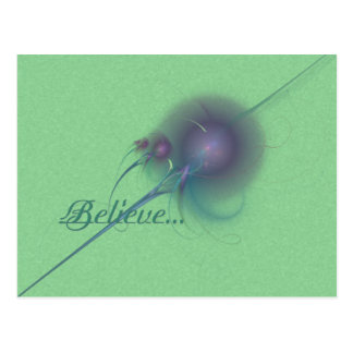 Faery Wand Abstract Art Postcard