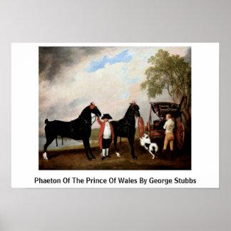 Faetón del Príncipe de Gales de George Stubbs Póster