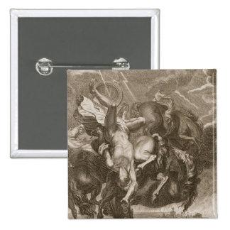 Faetón pegado abajo por el rayo de Júpiter, 1731 Pin Cuadrado