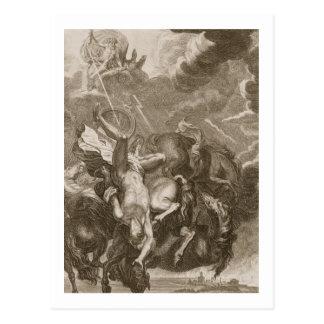 Faetón pegado abajo por el rayo de Júpiter, 1731 Postal