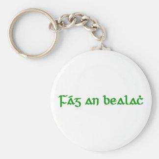 Fág an bealach basic round button keychain