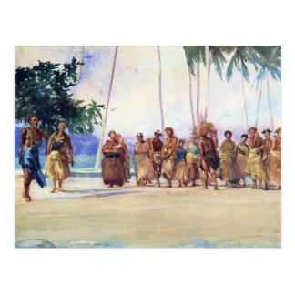 'Fagaloa Bay, Samoa, 1890' - John LaFarge Postcard