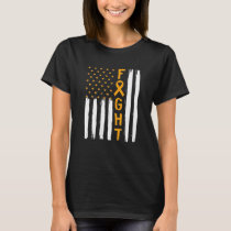 Faght Appendix Cancer Awareness Vintage Usa Flag T-Shirt