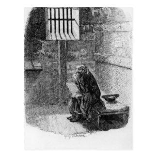 Fagin en la célula condenada tarjetas postales