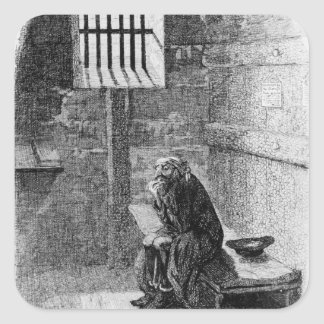 Fagin in the Condemned Cell Square Sticker