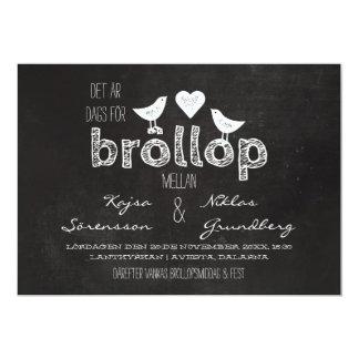 Fåglar och Hjärta Griffeltavla | Bröllop Card