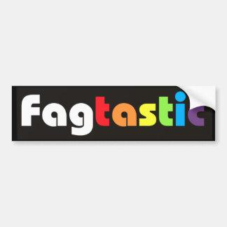 Fagtastic (Banner) Bumper Sticker Car Bumper Sticker
