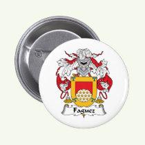 Faguez Family Crest Button