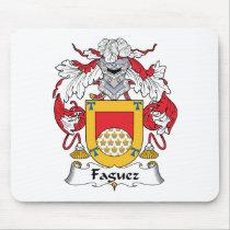 Faguez Family Crest Mousepad
