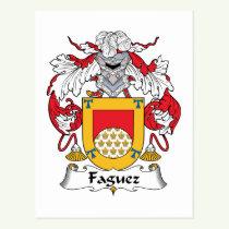 Faguez Family Crest Postcard