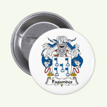 Fagundes Family Crest Button