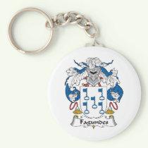 Fagundes Family Crest Keychain