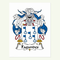 Fagundes Family Crest Postcard