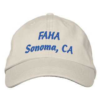 FAHA embroidered cap