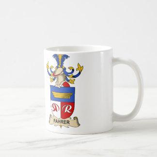 Fahrer Family Crest Classic White Coffee Mug
