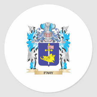 Fahy Coat of Arms - Family Crest Classic Round Sticker