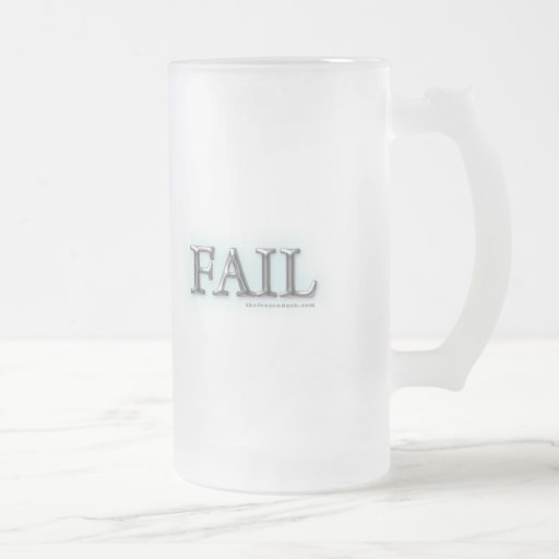 Fail 16 Oz Frosted Glass Beer Mug