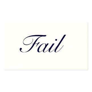 Fail Double-Sided Standard Business Cards (Pack Of 100)
