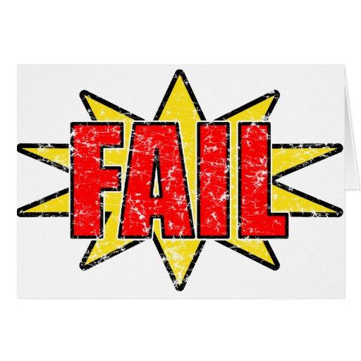 Fail Cards