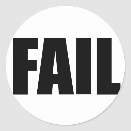 FAIL. CLASSIC ROUND STICKER