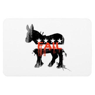 Fail Democrat Faded png Vinyl Magnet